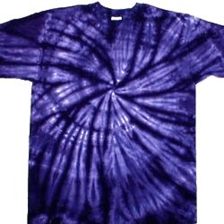 Bright Purple Spiral Tie Dye Shirt