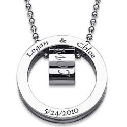 Personalized Stainless Steel Couple's Love Necklace