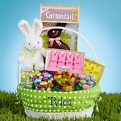 Personalized All-In-One Green Easter Basket