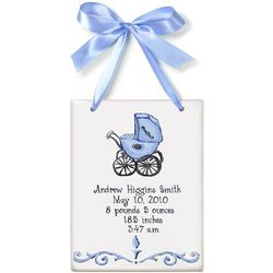 Baby Boy Personalized Buggy Birth Announcement