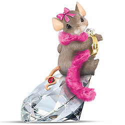 Charming Tails Diamond Dreamer Maxine Mouse Figurine