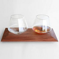 Cupa Rocks Glasses and Tray
