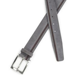 Italian Suede and Braided Leather Belt