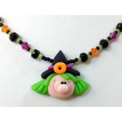 Winka Witch Halloween Necklace for Kids