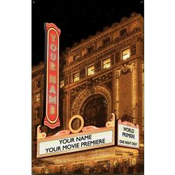 Personalized Vintage Theater Metal Sign
