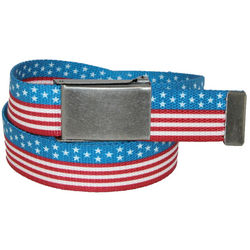 Big and Tall Stars and Stripes American Flag Belt