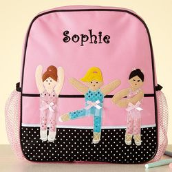Girl's Personalized Ballerina Backpack