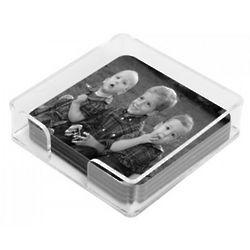 4 Custom Photo Square Coasters