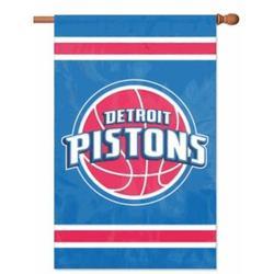 Detroit Pistons Applique Banner Flag