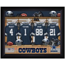 Customized Dallas Cowboys Locker Room 12x16 Framed Picture