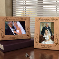 Personalized Father and Mother of the Bride & Groom Wooden Frame