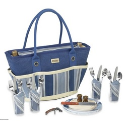 Aegean Picnic Basket Tote for 4