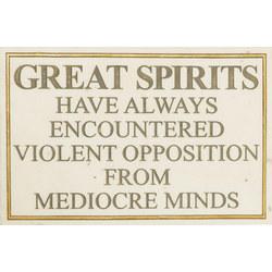 Einstein-Great Spirits Quote Plaque