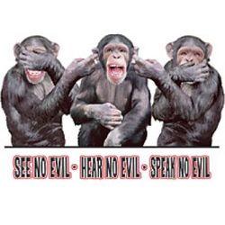 See/Hear/Speak-Monkey T-Shirt
