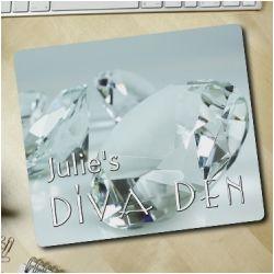 Personalized Diamond Diva Den Mousepad