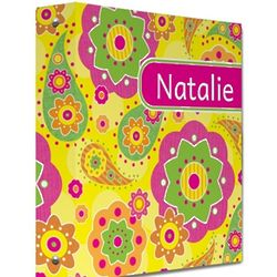 Fancy Flowers Personalized Binder