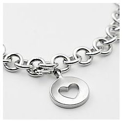 Classic Cutout Heart Charm Toggle Bracelet