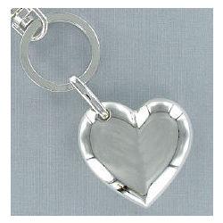 Silvertone Heart Keychain