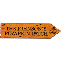 Personalized Haunted Pumpkin Decorative Arrow Sign