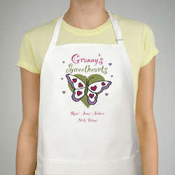 Butterfly Sweethearts Personalized Apron