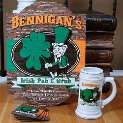 Ultimate Personalized Irish Pub and Grub Gift Set