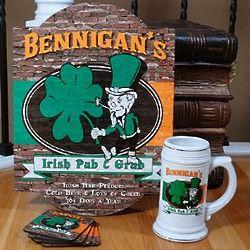 Ultimate Personalized Irish Pub and Grub Gift Set