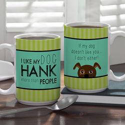 Dog Lover Personalized Large Coffee Mug