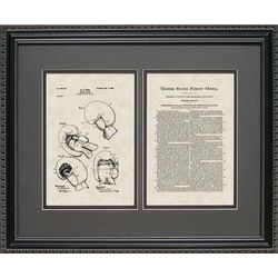 Boxing Gloves Patent Art Wall Hanging