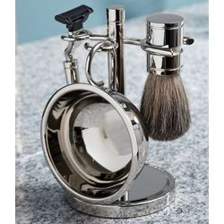 Trifecta Chrome Shaving Kit