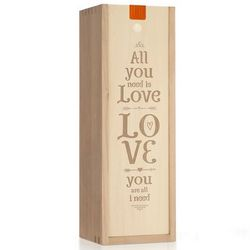 All You Need is Love Wine Bottle Box