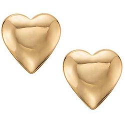 Children's Heart Earrings in 14k Yellow Gold