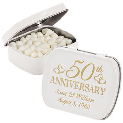 Personalized 50th Anniversary Mint Tin Party Favors