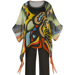Handpainted Silk Popover Tunic