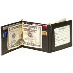 Men's Black Double Money Clip and Wallet