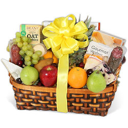 Same Day Delivery Fruit, Gourmet Cheese & Cracker Gift Basket