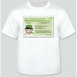 Irish Driver's License T-Shirt