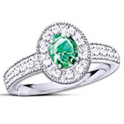 Women's Legend of the Emerald Diamond and Emerald Ring