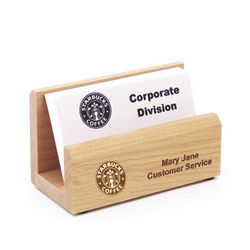 Solid Maple Desktop Business Card Holder