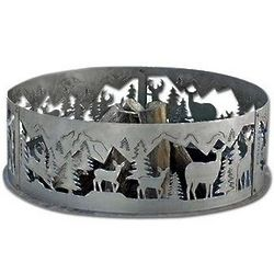 Whitetail Deer Wildlife Decorative Fire Ring