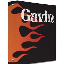 Personalized Flames Binder