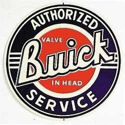 Buick Service Metal Sign