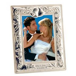 Silver Wedding Bells Photo Frame