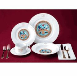 Personalized Military Porcelain Place Setting