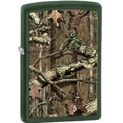 Nature Break-Up Infinity Green Matte Zippo Lighter