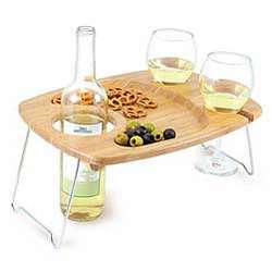 Portable Picnic and Wine Table