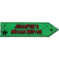 Personalized Haunted Black Cat Decorative Arrow Sign