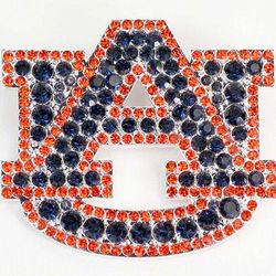 Auburn Tigers Rhinestone Pin