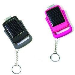 Solar Power Charger Keychain for iTouch, iPhone or Blackberry