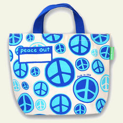Peace Themed Organic Cotton Lunch Bag