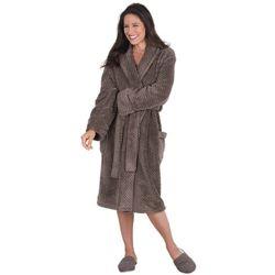 Women's Truffle Brown Waffle Fleece Robe